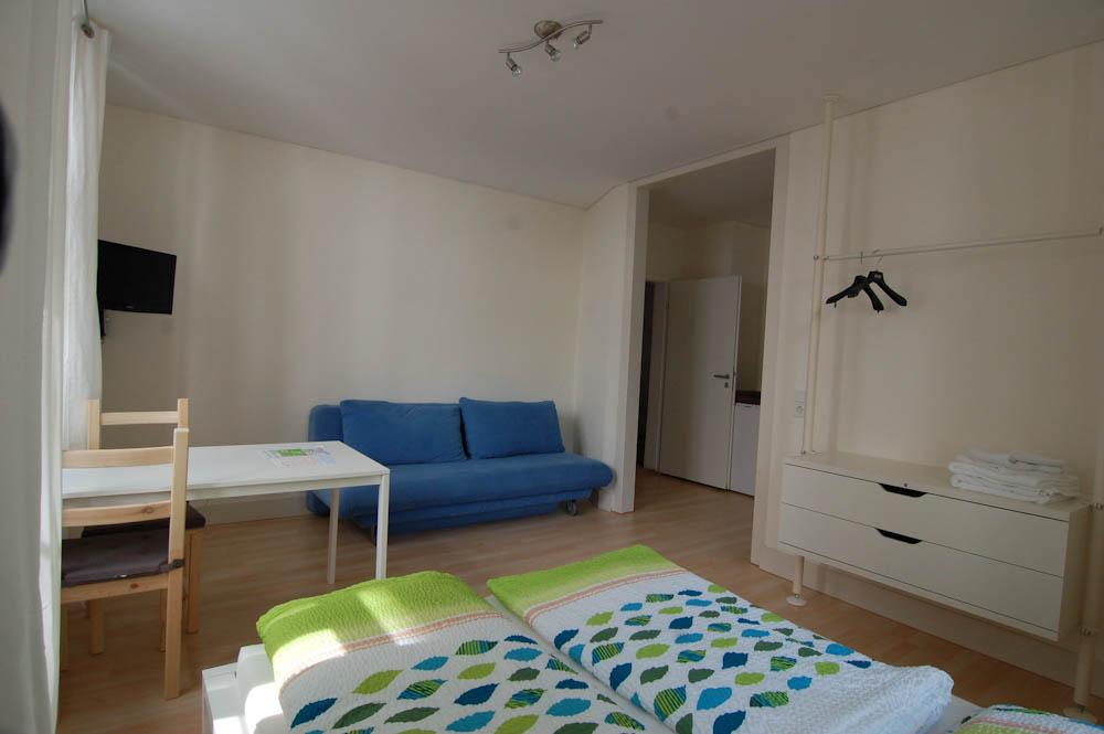 Wohn/Schlafraum Apartment 6